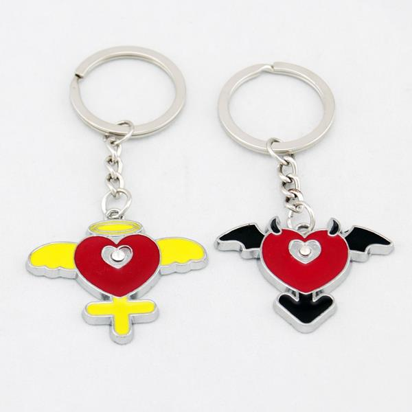 Angel And Devil Lover Couple Key Chain Keychain K69
