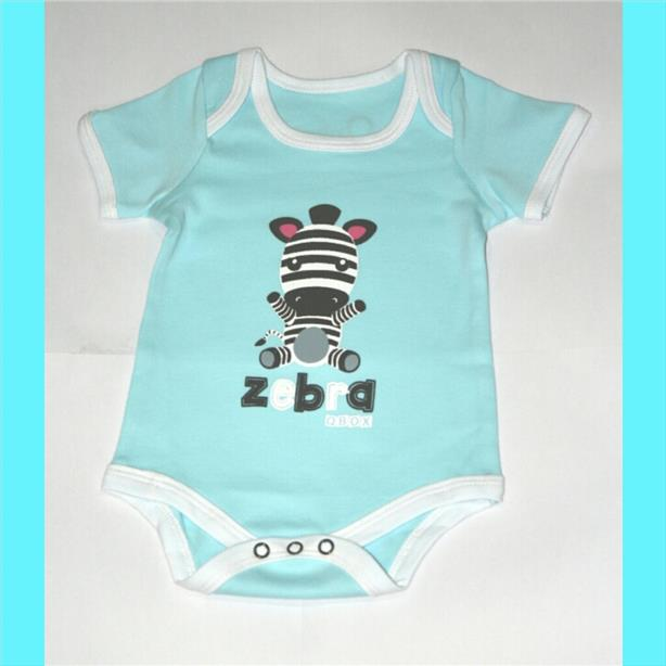 Animal Baby Rompers - Zebra