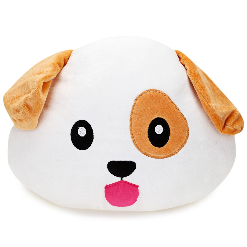 Stuffed Animal Dog Pillow : Animal Stuffed Emoticon Plush Pillow (end 8/30/2019 9:52 PM)
