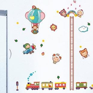 Animals Amusement Park Heights Measurement Wall Stickers