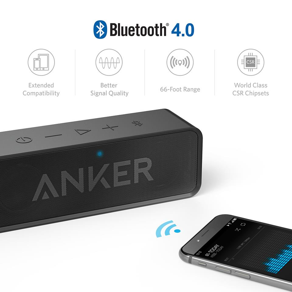 Anker SoundCore Bluetooth Stereo Speaker - Black