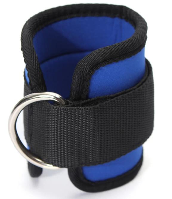 Ankle D-ring Multi Gym Strap (Blue)