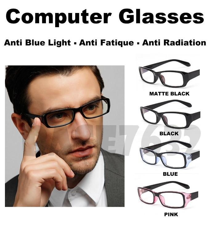 Anti Blue Light Radiation Fatigue Computer Lens Glasses Glass Frame
