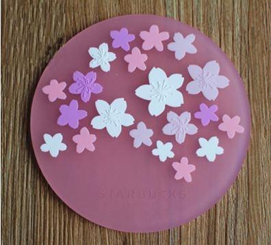 Anti-Slip Insulation Silicone Coaster Cherry Blossom Pink