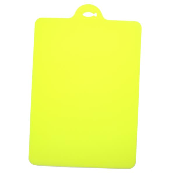 Anti-Slip Kitchen Flexible Cutting Board Chopping Board (Yellow)