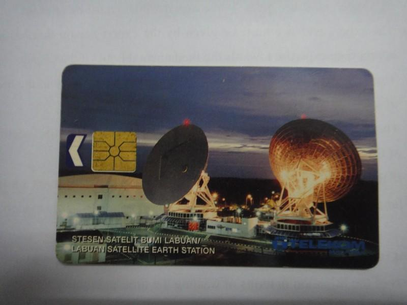 Antique Labuan Satellite Earth Station Phone Card