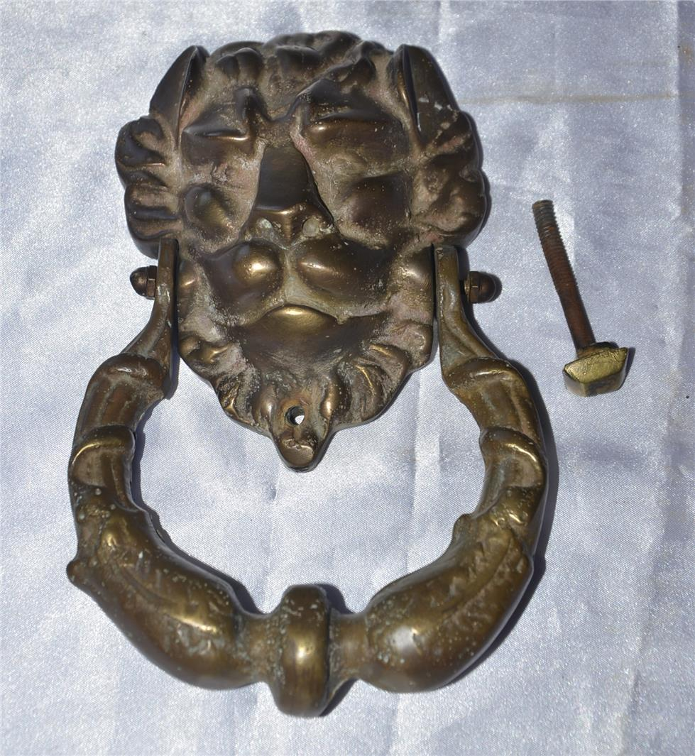 Antique vintage large and heavy lion head door kno end 3 6 2016 2 36 00 pm - Antique lion head door knocker ...