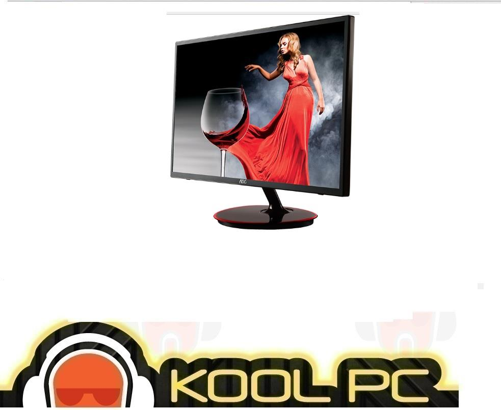 AOC 23.6' M2461FWH SLIM LED Monitor- D-Sub,HDMI/8ms