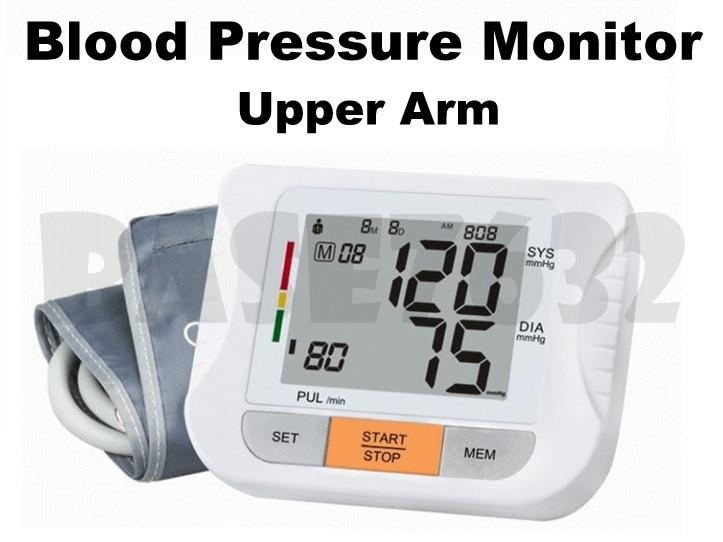 AOEOM Upper Arm LCD Digital Automatic Blood Pressure & Pulse Monitor