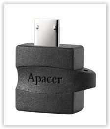 APACER 8GB USB3.0 FLASH DRIVE + OTG ADAPTER A610 PLUS (BLACK)