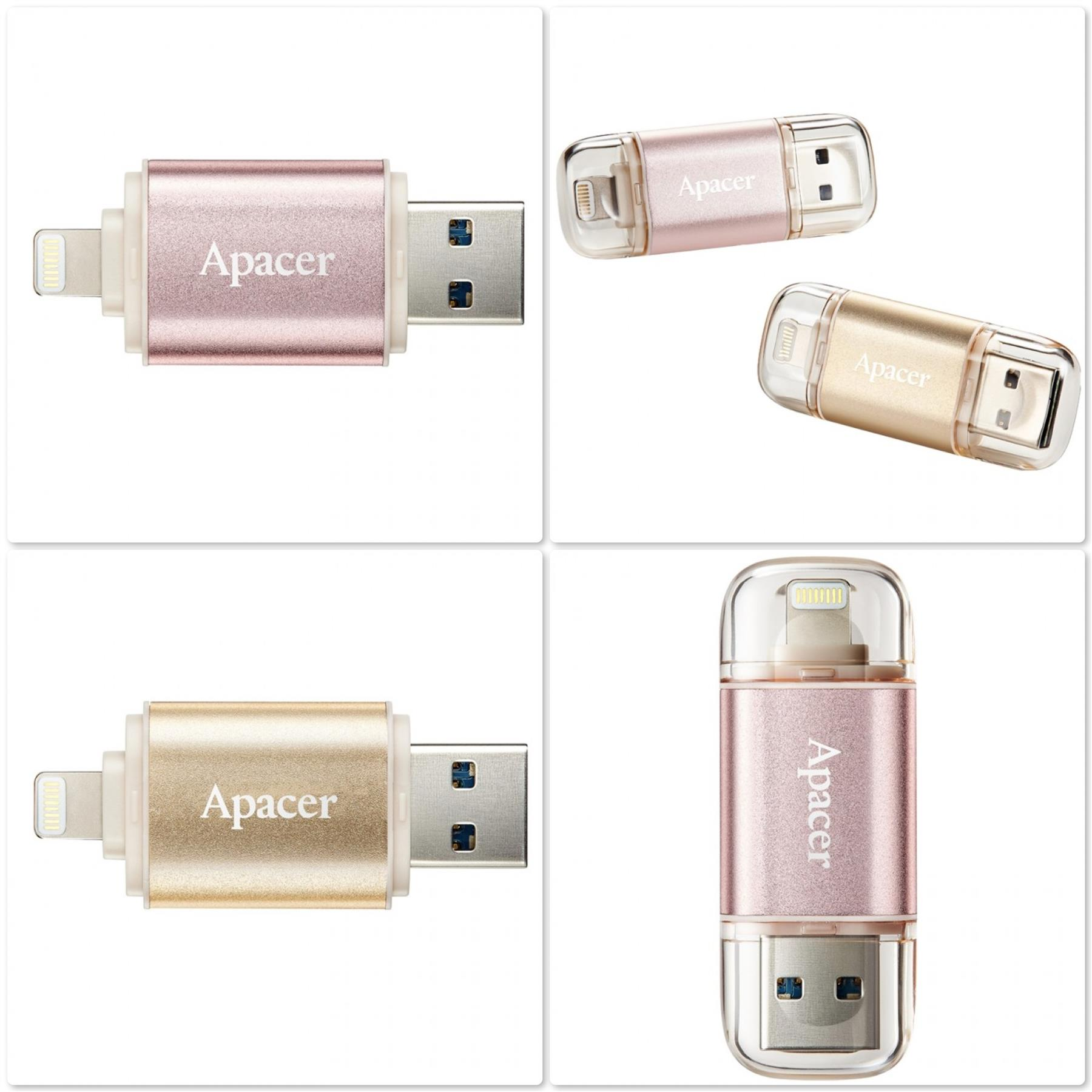 Apacer AH190 USB3.1 to Lightning Dual Flash Drive for iOS