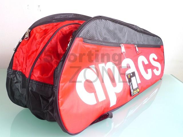 Apacs 2 Compartments Badminton Racket Bag Red Black AP832