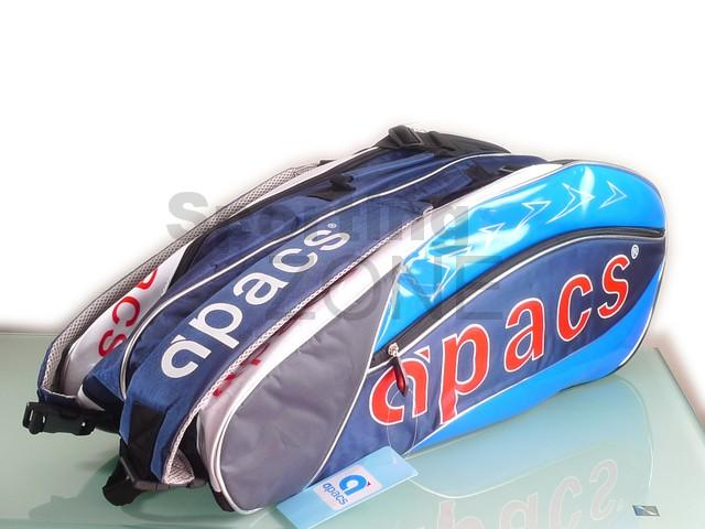 Apacs 2 Compartments Thermal Badminton Racket Bag AP07 Blue