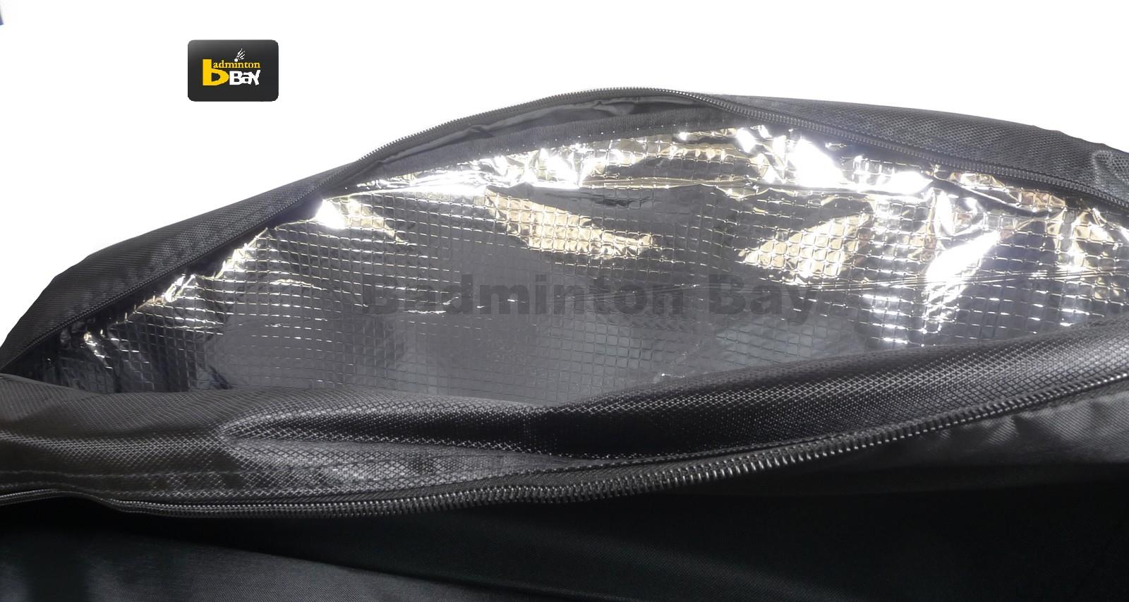 Apacs 2 Compartments Thermal Badminton Racket Bag AP605 Grey