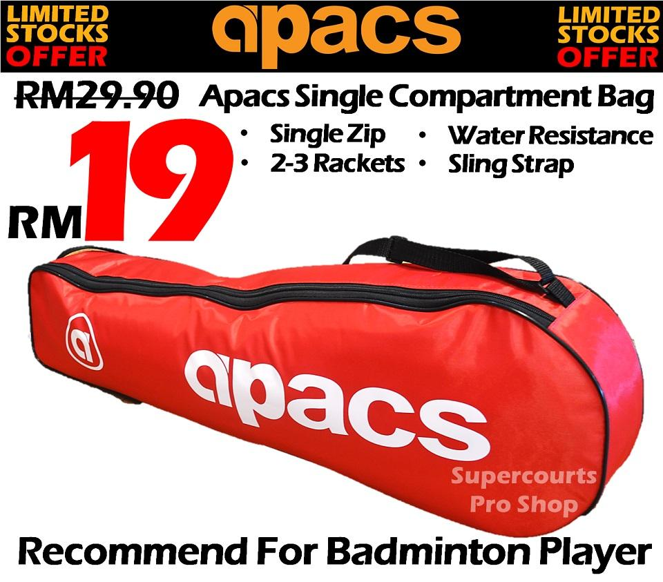 Apacs AP1122 Red Single Bag Compartment (Water Resistance)