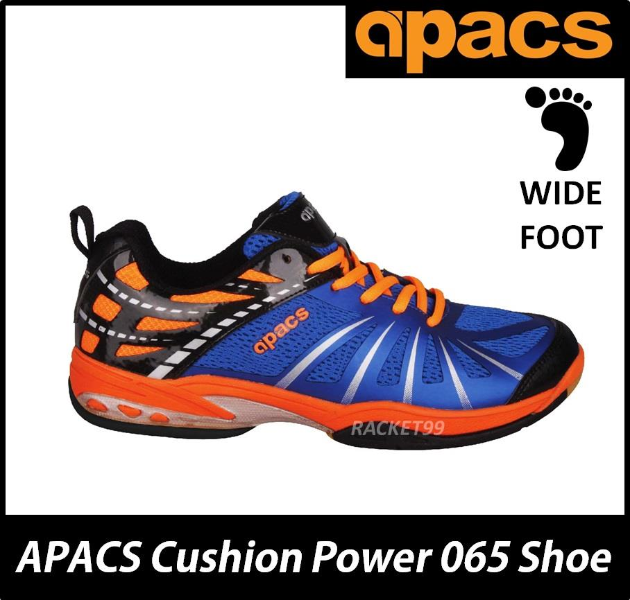 Apacs Cushion Power 065 Orange Blue Badminton Squash Court Shoes