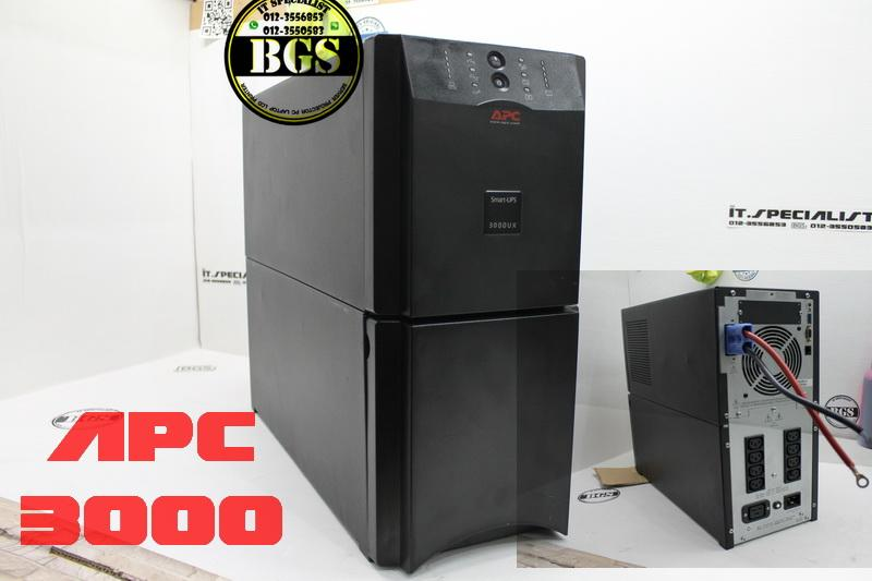 APC SUA3000 Tower UPS 2700W  3000VA c/w Genuine New Battery