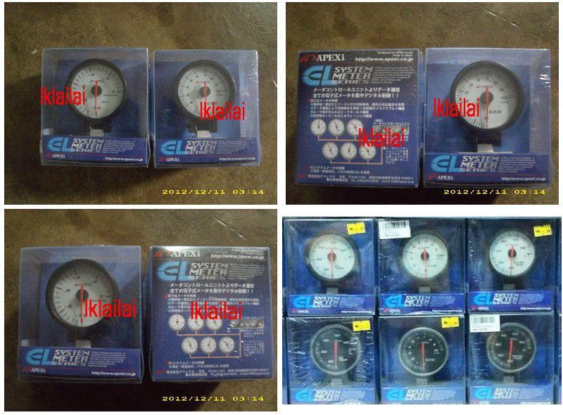 APEXi EL RPM/VACUUM/BOOST/VOLT/OIL WATER TEMP METER