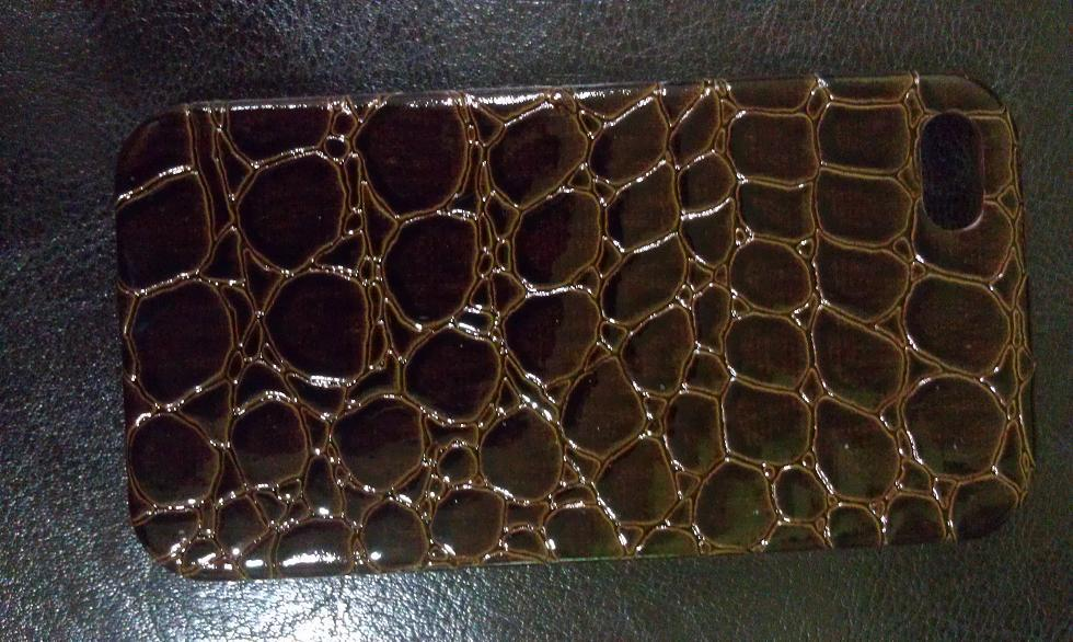 APPLE 4 4S BROWN CROCODILE SKIN HARD CASE