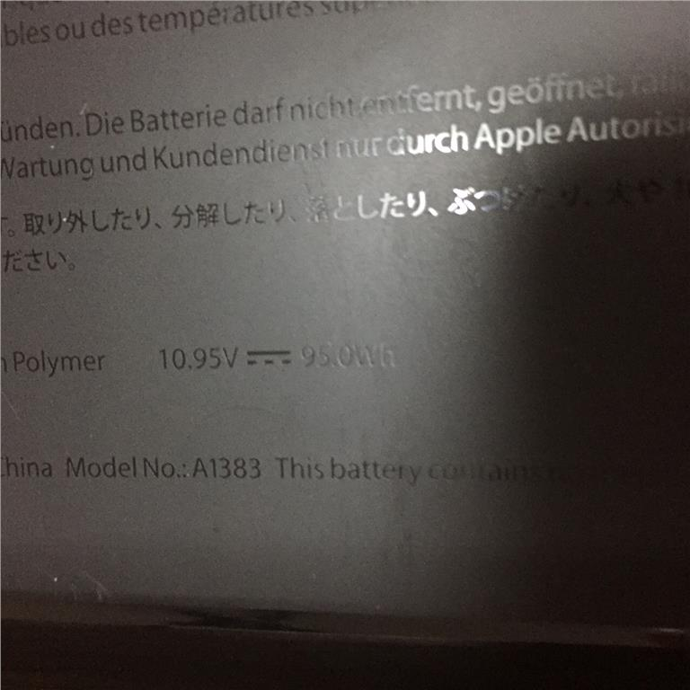 APPLE A1383 Battery 100% Brand New GENUINE Original A1279 A1383