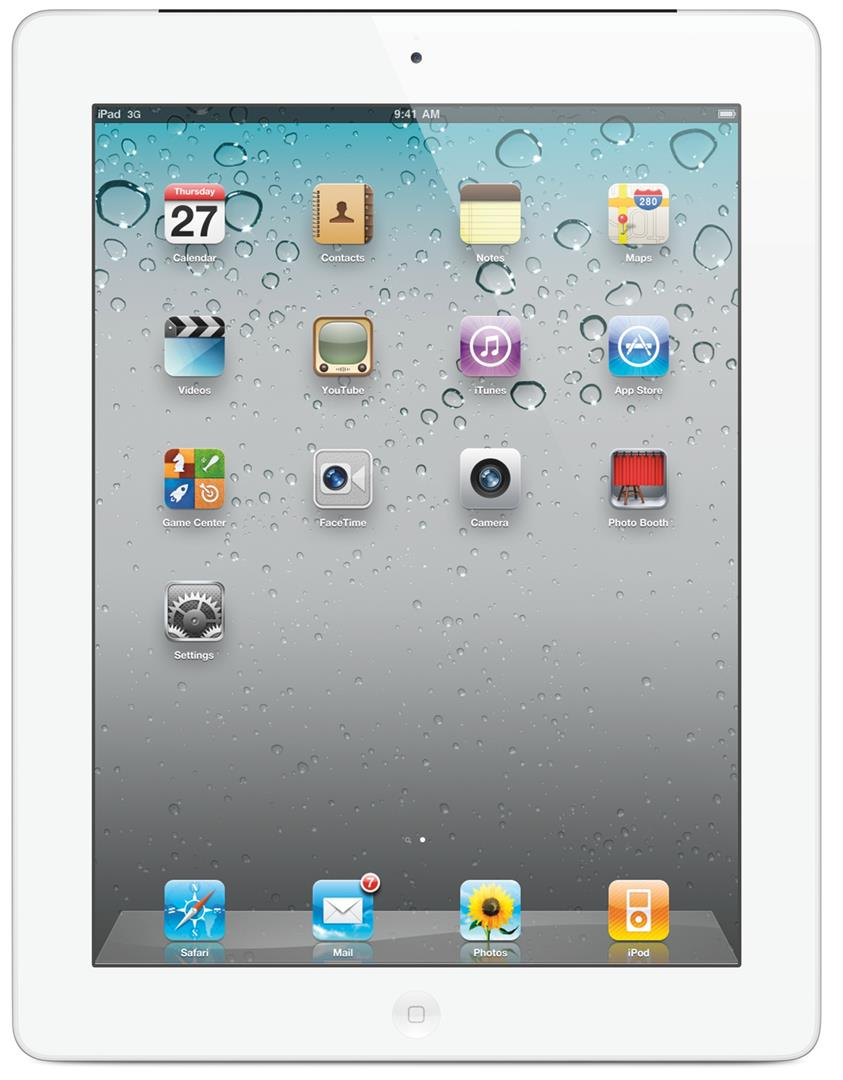 Apple iPad 2 WiFi 16GB White (Free Tempered Glass)