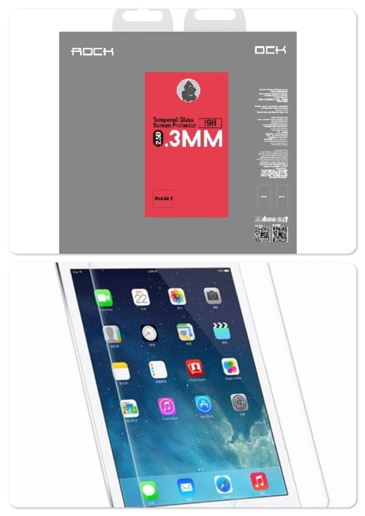 Apple iPad Air 2 Rock 0.3mm 2.5D Tempered Glass Screen Protector