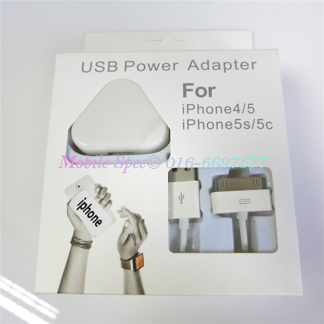 Apple iPhone 3 4 4S iPad 1 2 Adapter Charger + 30pin Cable