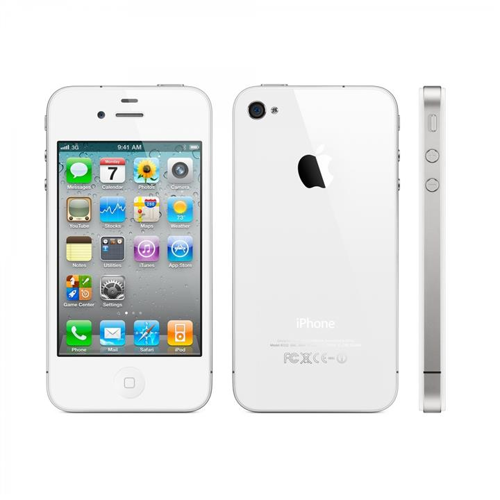 Apple iPhone 4 32GB White (Free Case, Tempered Glass)