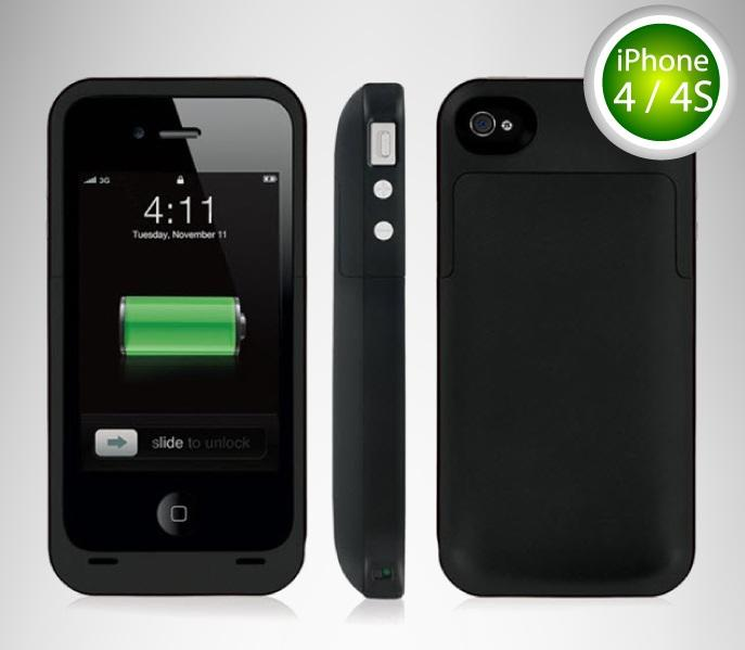 Apple iPhone 4 / 4S Rechargeable External Battery Case Cover IP95