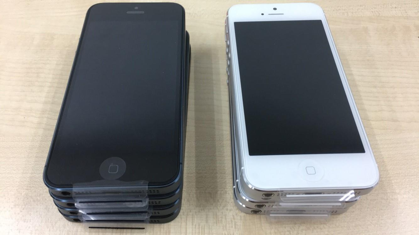Apple Iphone 5 16gb Black/ Silver Used Set