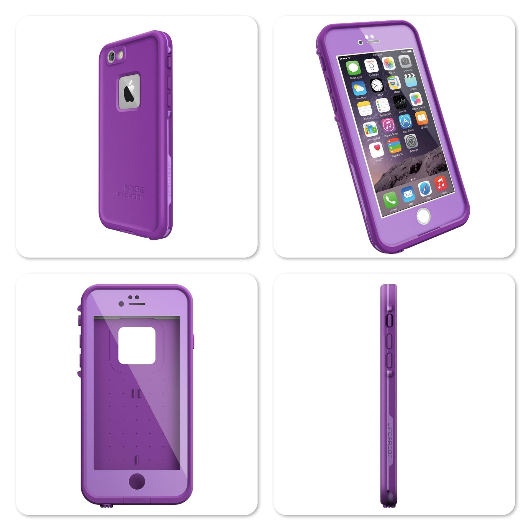 Apple iPhone 6 4.7 Lifeproof Fre Series Waterproof Protective @ Purple