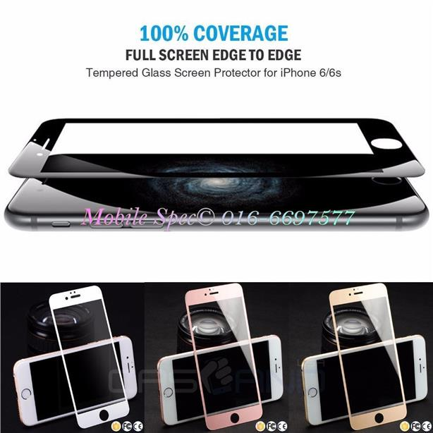 Apple iPhone 6 6s 7 Plus + Full Cover 9H Tempered Glass Original Color
