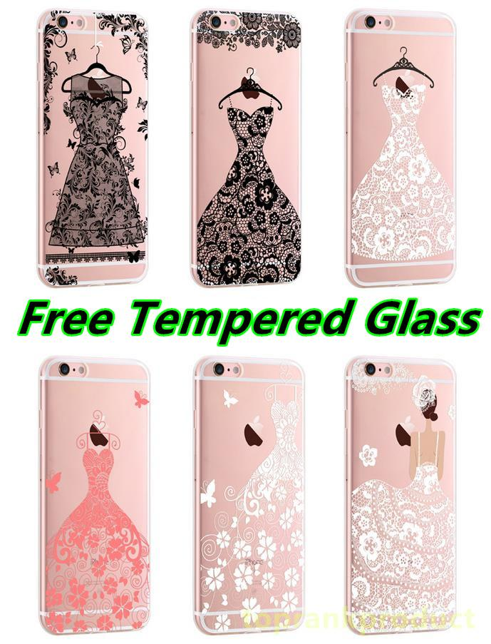 Apple iPhone 6 6S / Plus Lace Series Case Cover Casing +Tempered Glass