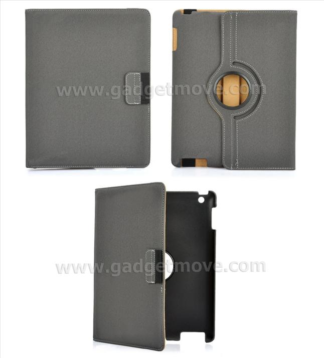 Apple New iPad 3 2 360� Rotating Leather Case with Stand Bag