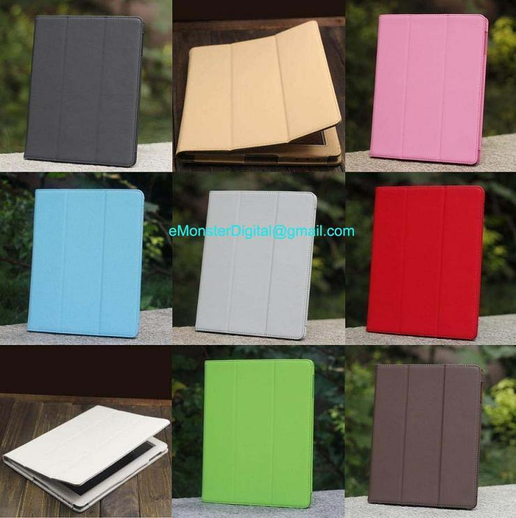 Apple New iPad3 / iPad 2 iPad2 PU leather case Pouch