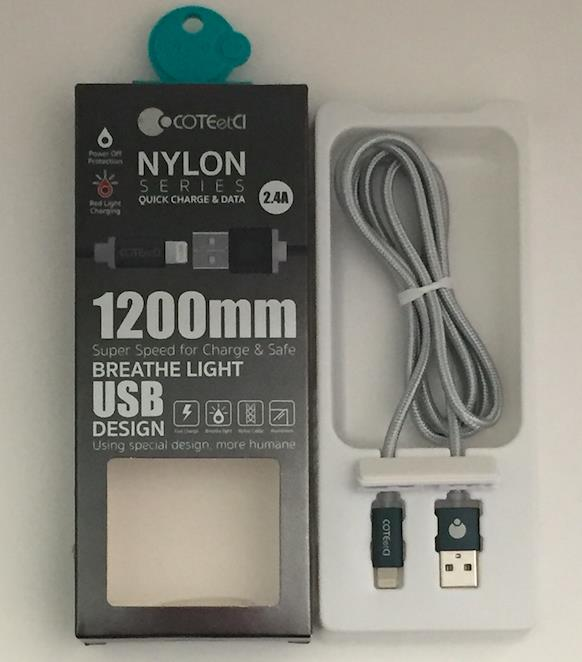 Apple Nylon Quick Charge Cable 1200mm (iPhone 5/6/7)