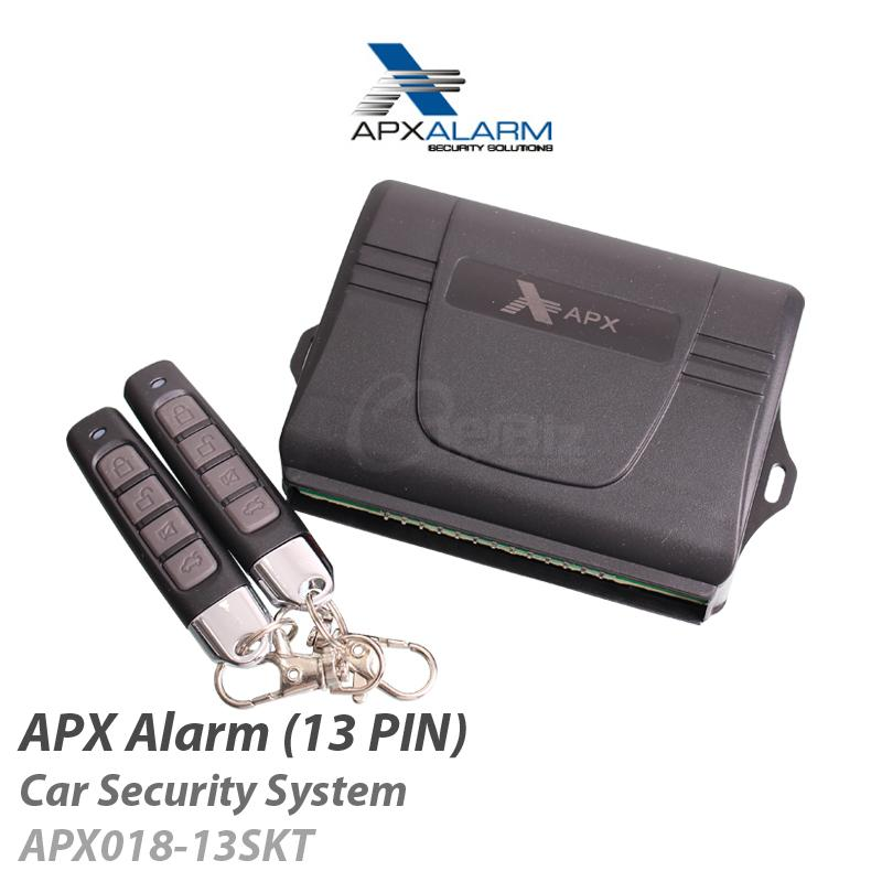APX Alarm-CarSecuritySystem with CentreLockRelay(13PIN) APX081-13SKT