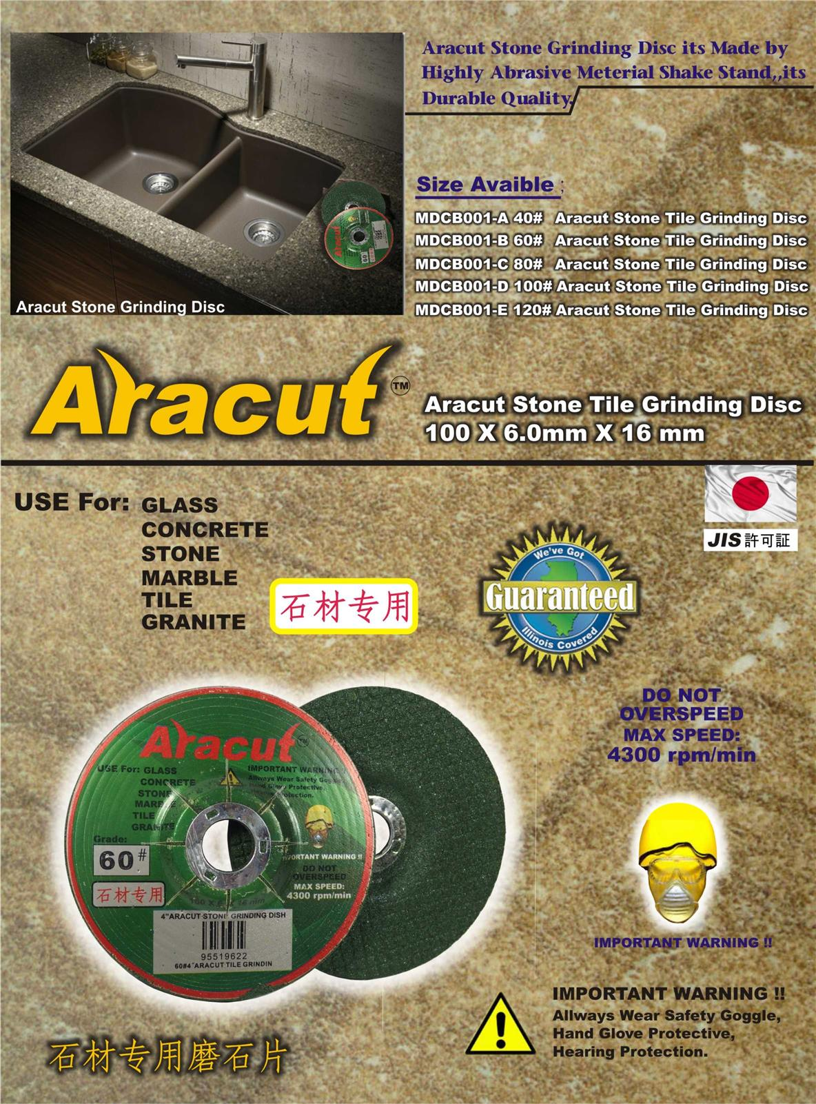 Aracut Stone Tile Grinding Disc /pc