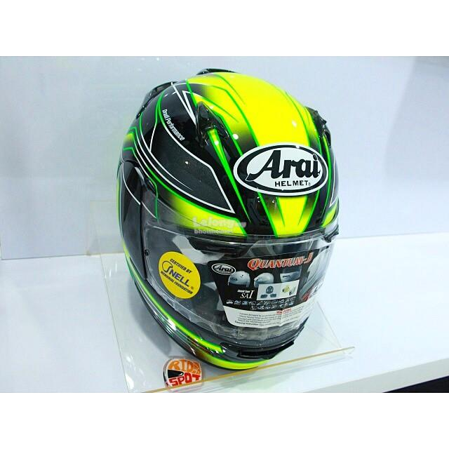 ARAI QUANTUM J ELECTRIC GREEN Motorcycle Helmet