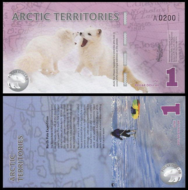 Arctic Territories 1 Dollar 2012 P New Polymer UNC