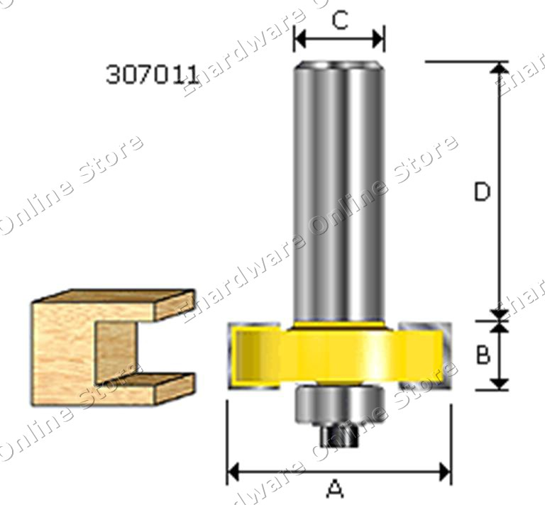 ARDEN T-SLOTTING  ROUTER BITS (AD307)