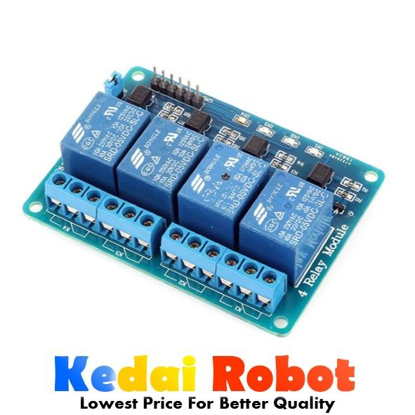Arduino IoT 4 Channel Ways Opto Isolator 10A 5V Relay Module