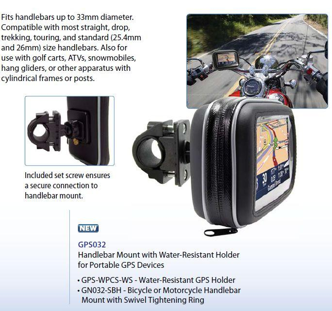 Arkon Water Resistant GPS Bicycle, Motorcycle Bike Mount & Case