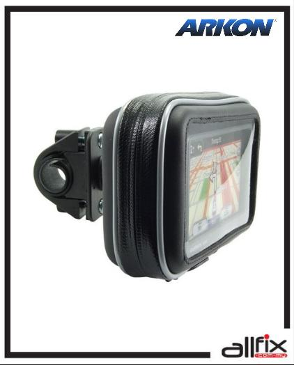 ARKON WATER RESISTANT GPS CASE WITH MOTORCYCLE/BICYCLE MOUNT