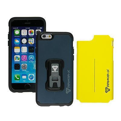 ARMOR-X RUGGED CASE X-MOUNT SYSTEM & DUAL DESIGN IPHONE 6/6S - NAVY