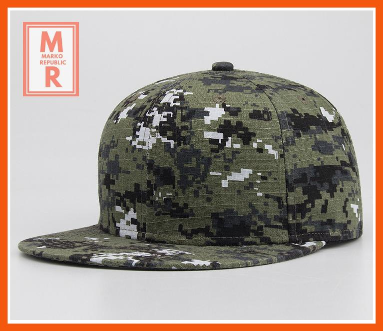 Army Camouflage Fashion Snap Back Cap/Hat