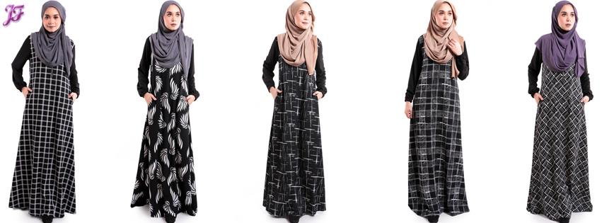 Arnee printed jubah with side pocket S387-D