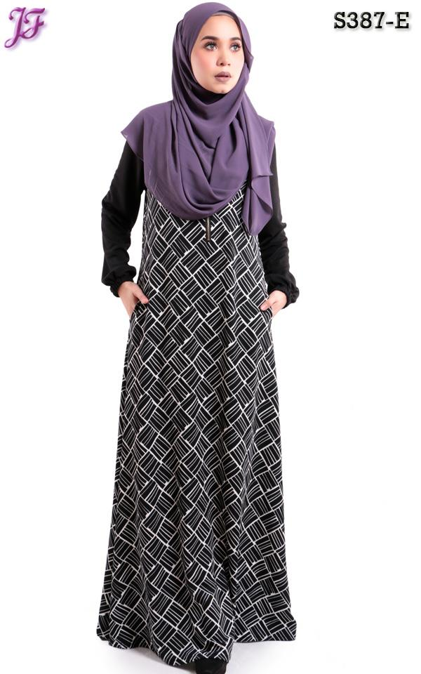 Arnee printed jubah with side pocket S387-E