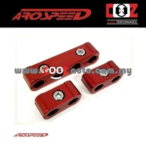 Arospeed 3pcs Aluminium Spark Plug Wires Separators Set - RED