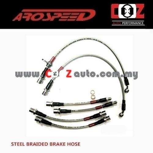 Arospeed Steel Braided Brake Hoses Toyota Wish 2004-2008 4 Disc Brake